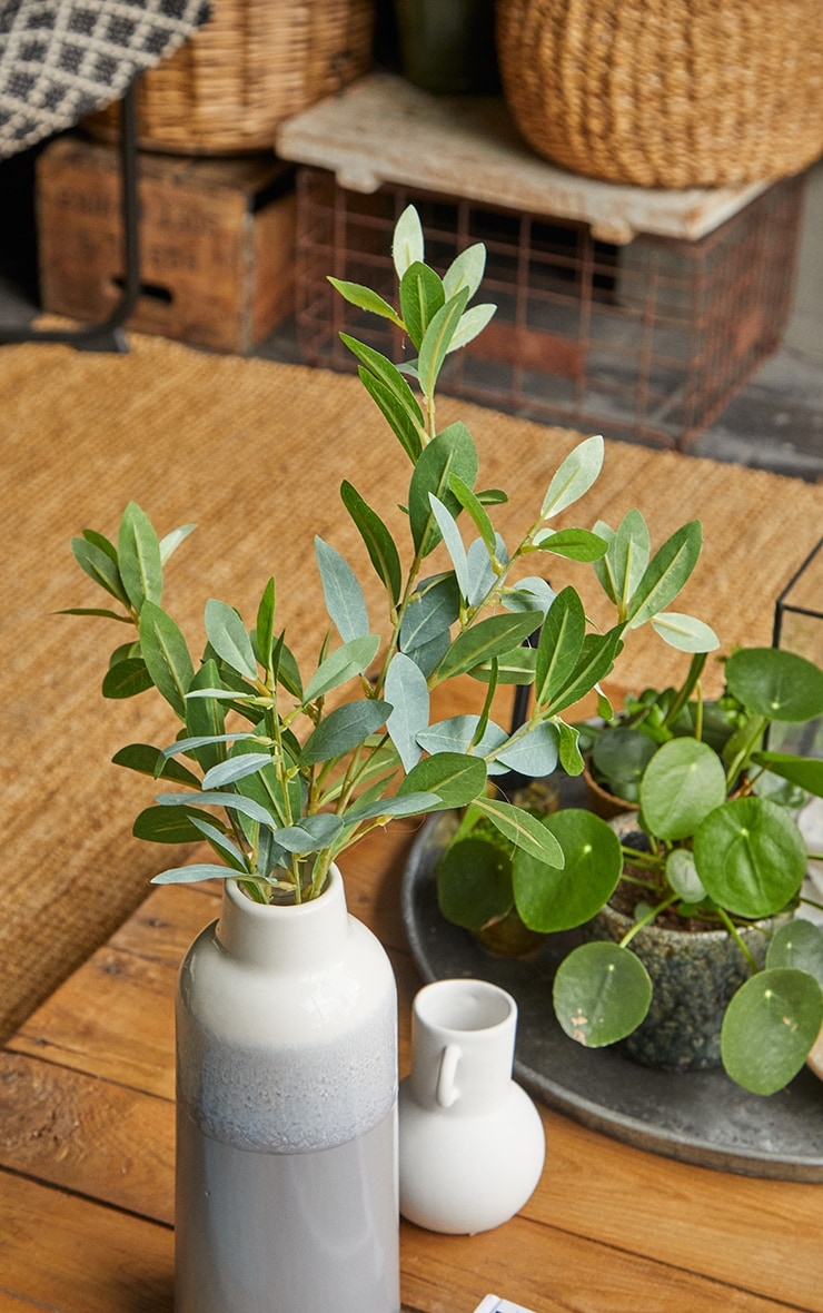 Green Silk Leaf Spray Branch Artificial Flower 3