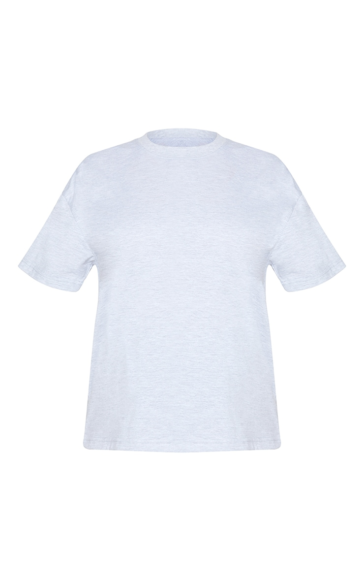 Petite Grey Oversized Boyfriend T Shirt 5
