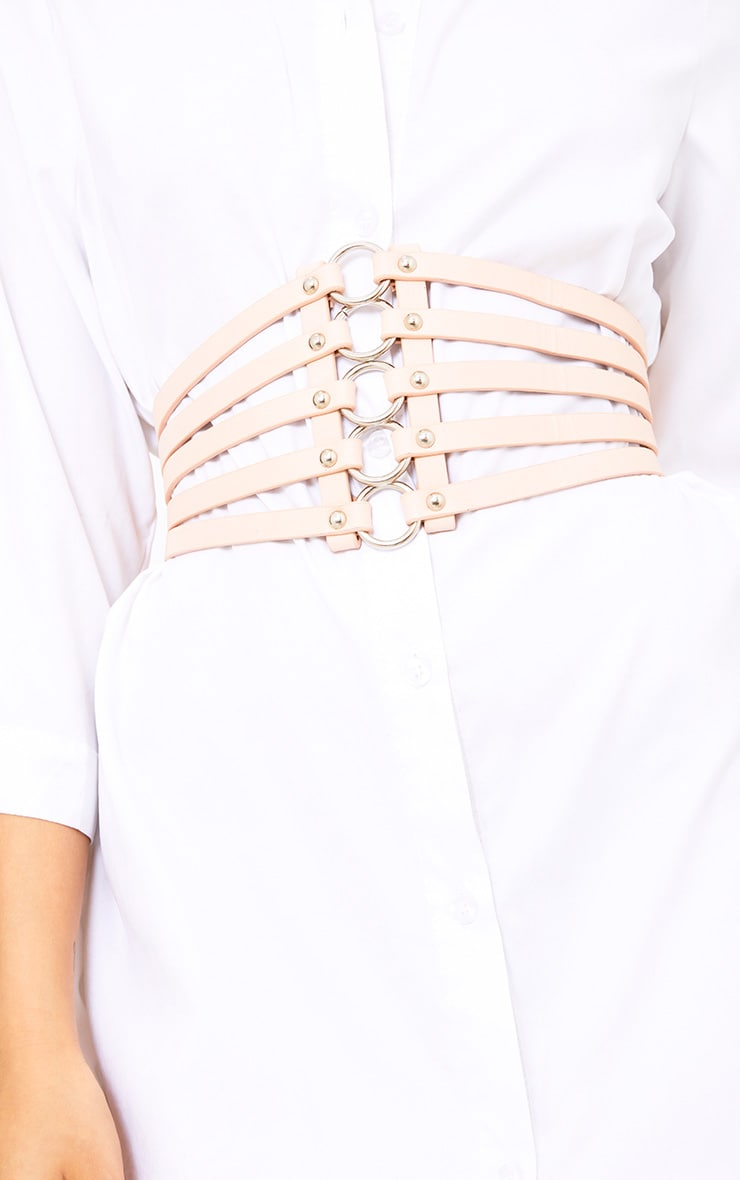Nude Multi Ring Strappped Belt  3