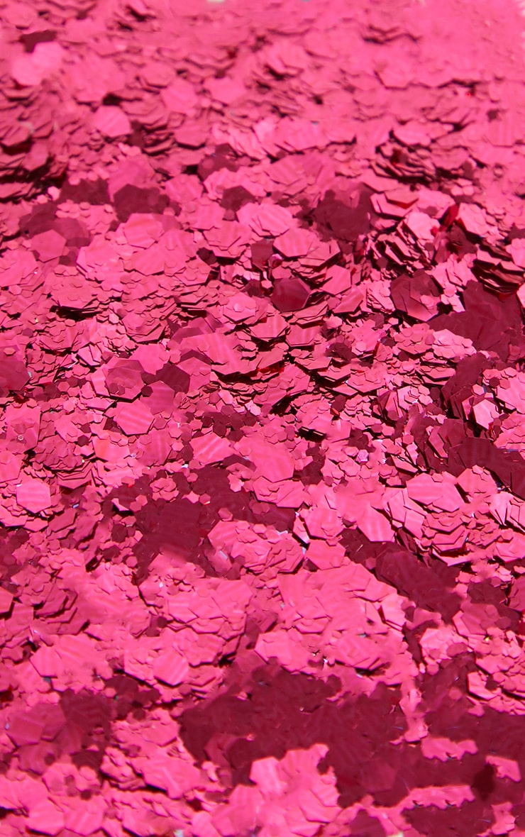 PRETTYLITTLETHING Chunky Pink Glitter Pot 4