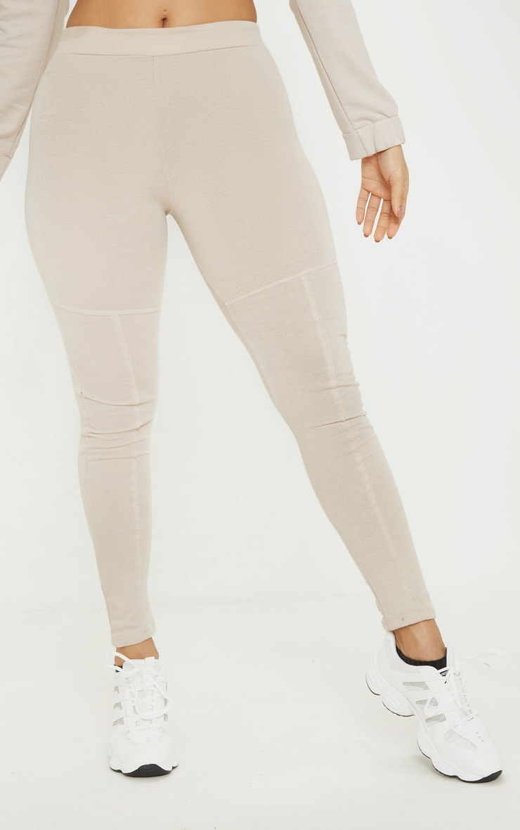 Oatmeal Marl Panel Gym Legging 2