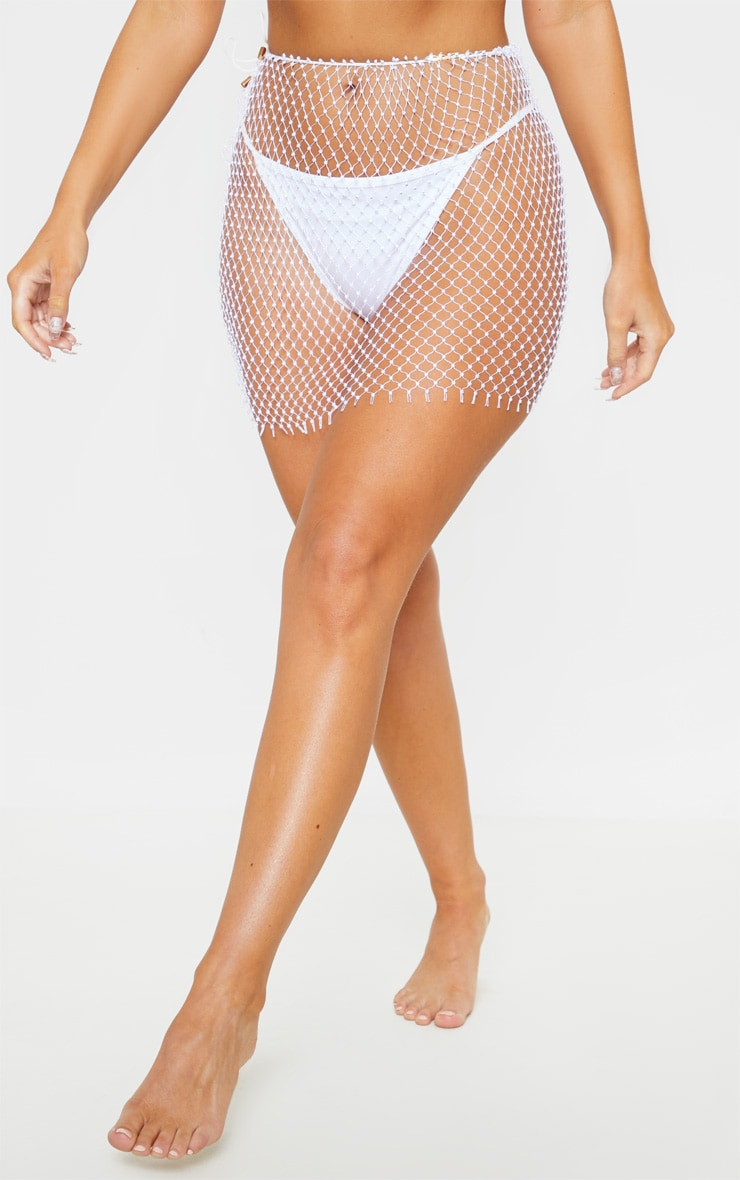 White Diamante Net Skirt Body Jewellery 2