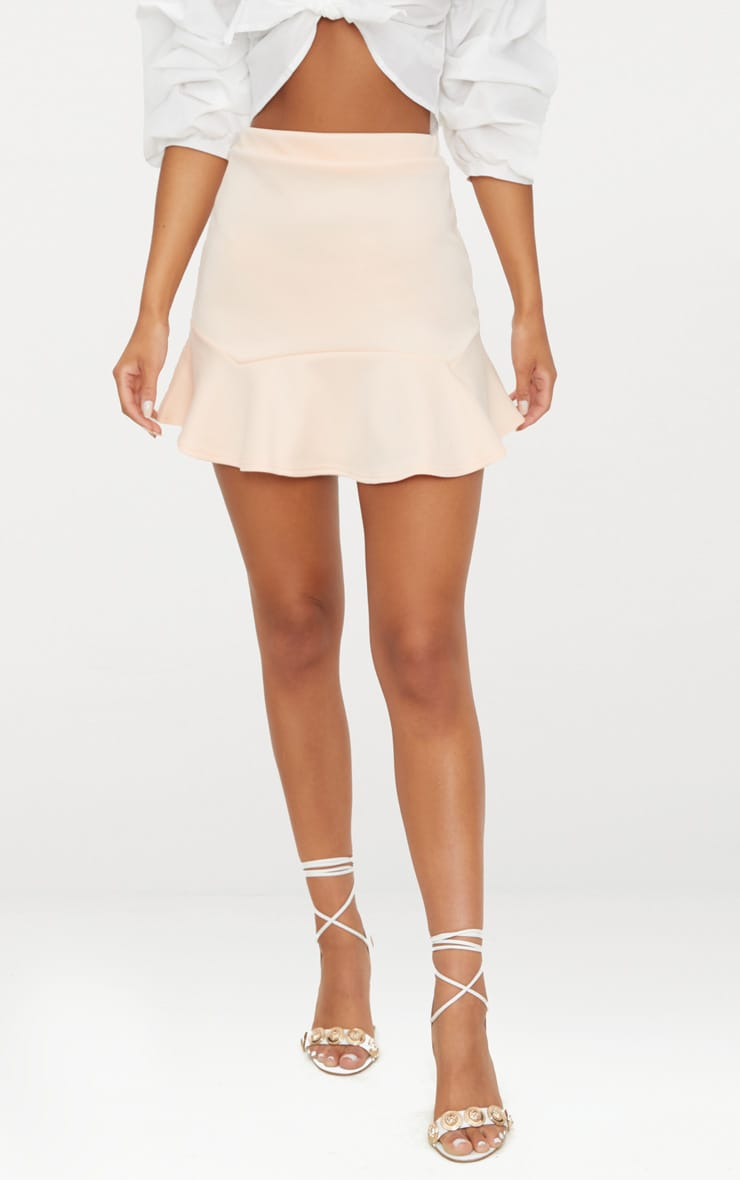Nude Flippy Hem Mini Skirt 2