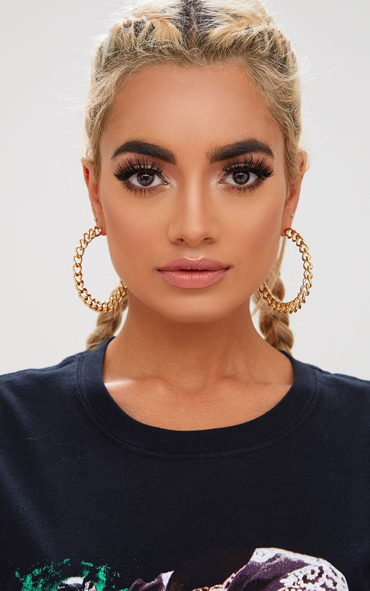 Gold Chain Hoop Earrings 1
