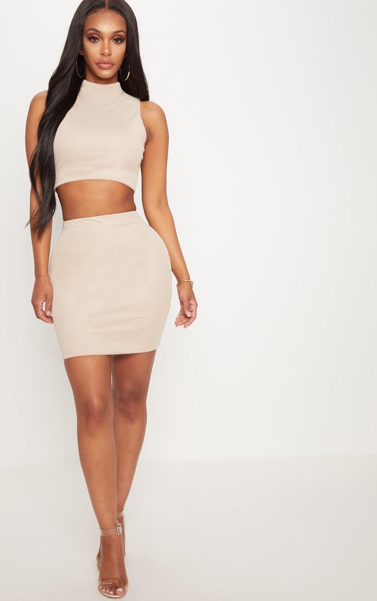 Shape Nude Mesh Bodycon Skirt 5