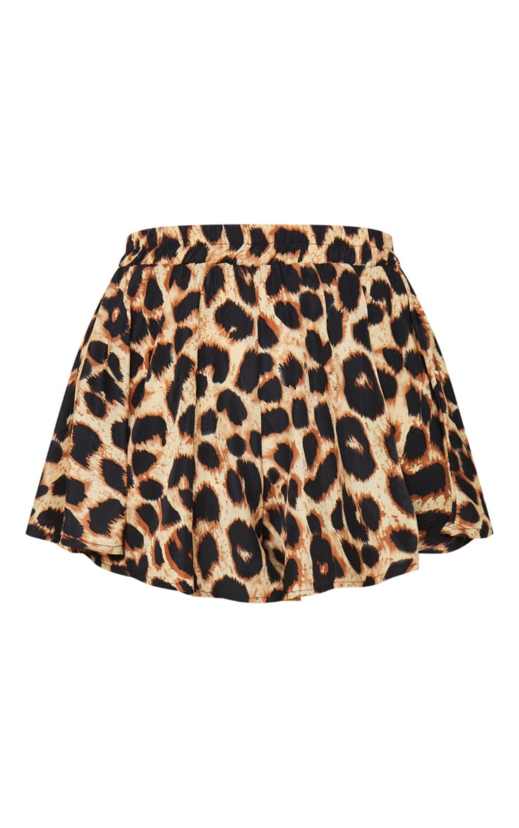 Lolita Brown Leopard Print Floaty Shorts 6