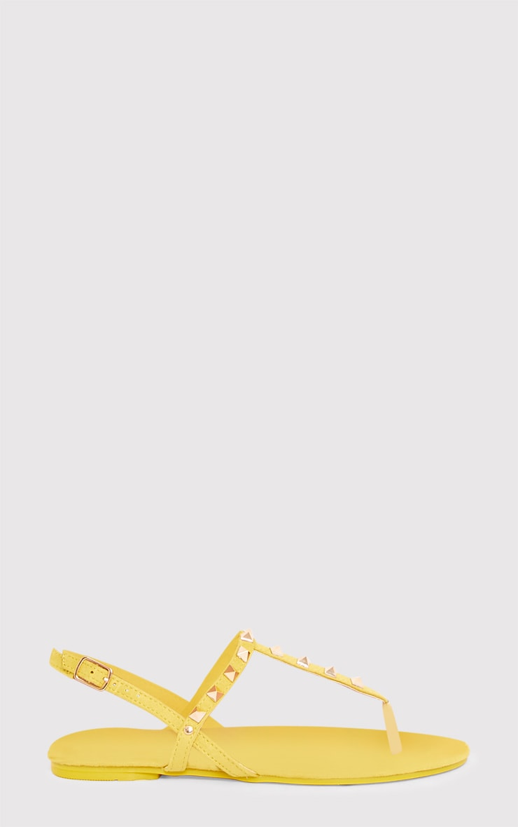Jacques Yellow Studded Sandals  2
