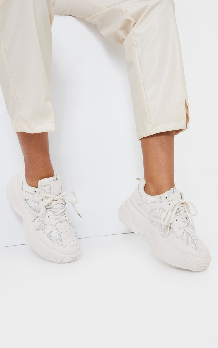 Beige Super Chunky Trainer   Shoes
