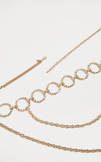 Gold Hoop Multi Chain Belt