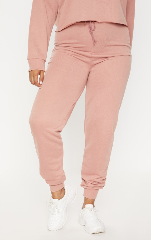 Plus - Pantalon de jogging rose cendré 2