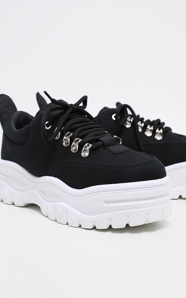 Black Flatform Chunky Hiker Trainer 3