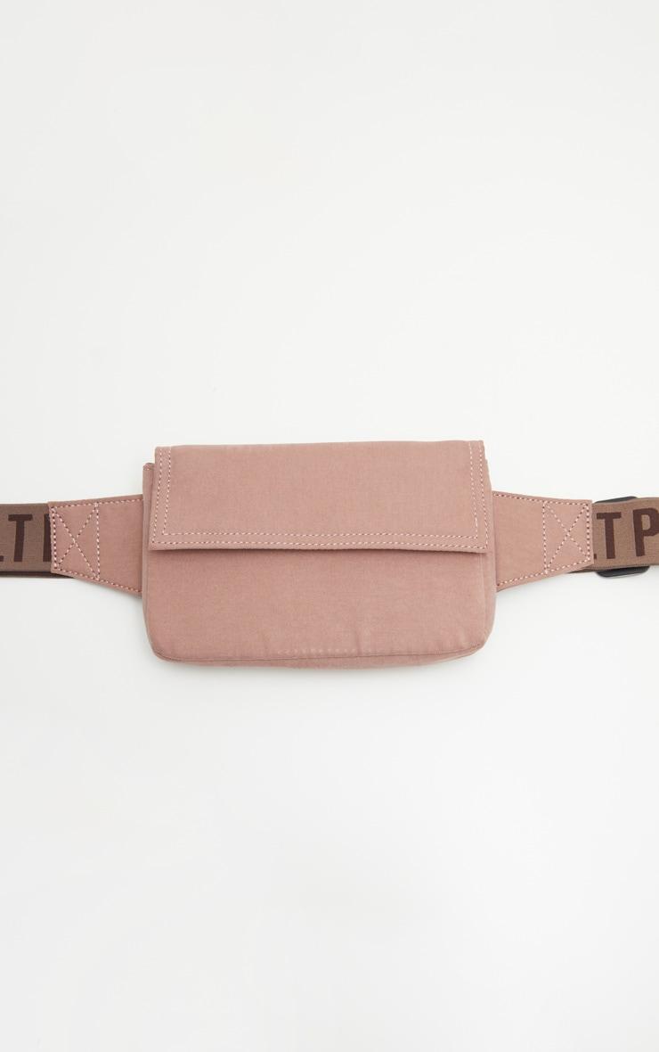 PRETTYLITTLETHING Mauve Belted Logo Bum Bag 2