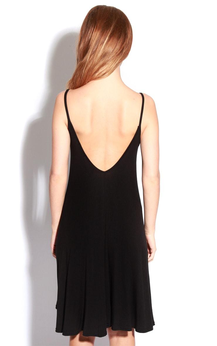 Roze Black Strappy Swing Dress 2
