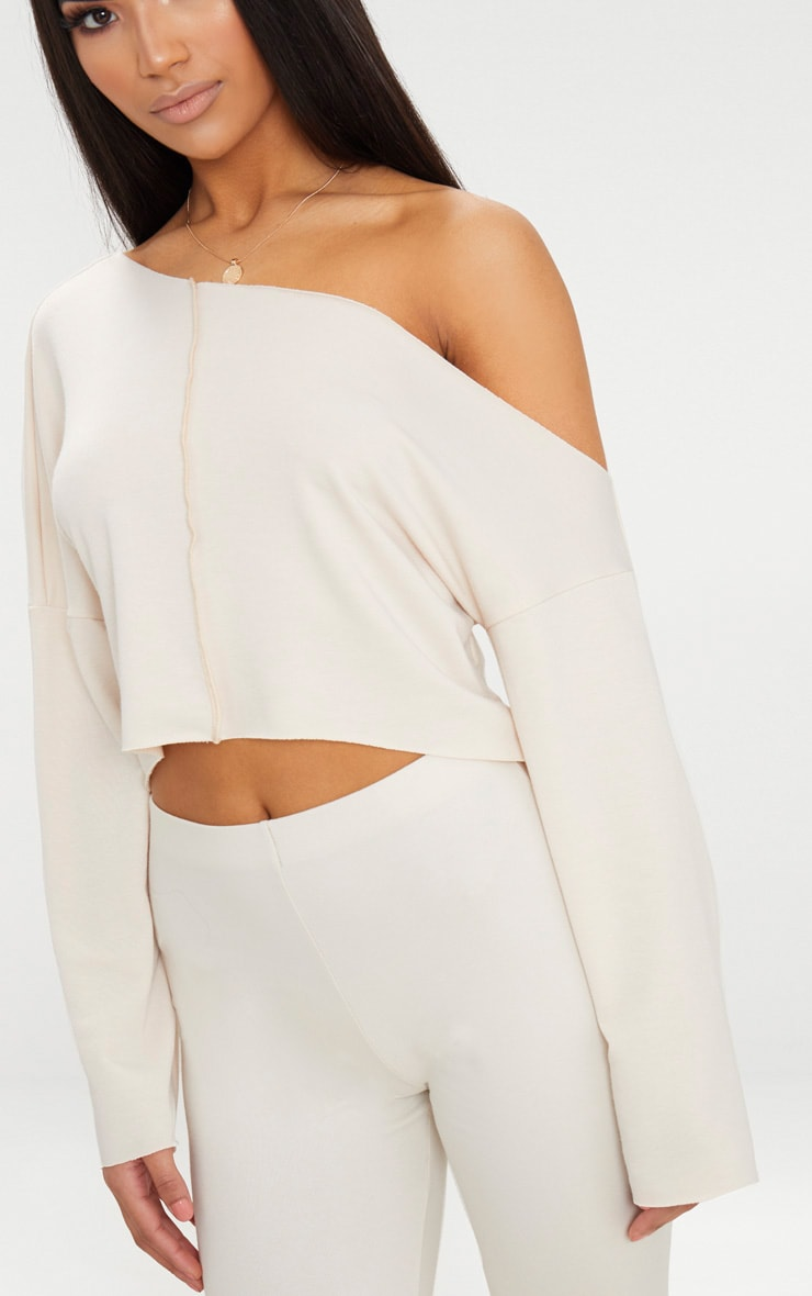 Off White Off Shoulder Sweater 6