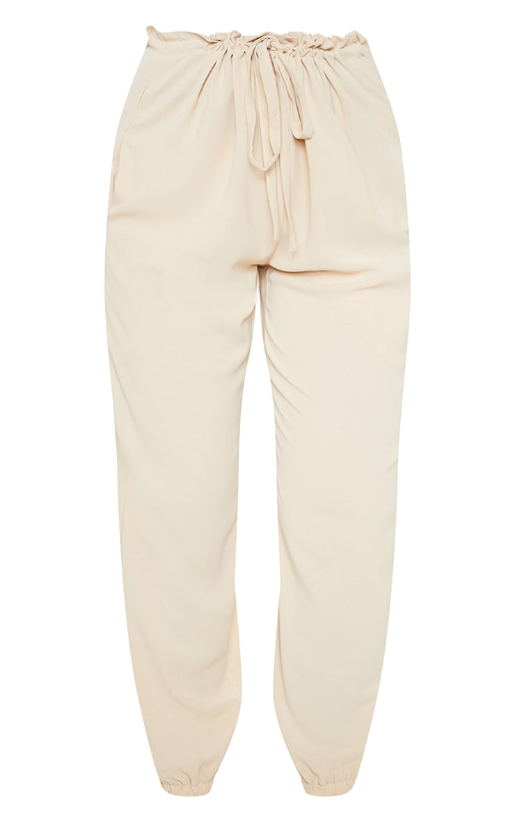 Cream Drawstring Waist Cuffed Trouser 3