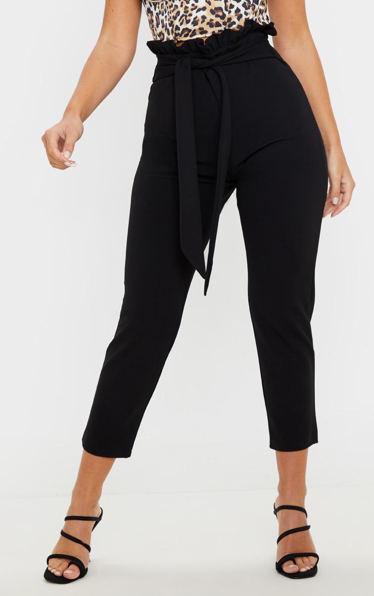 Black Paperbag Waist Crop Pants 2