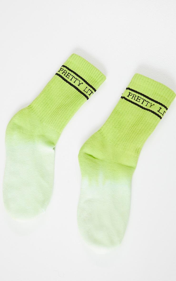 PRETTYLITTLETHING Green Tie Dye Socks 4