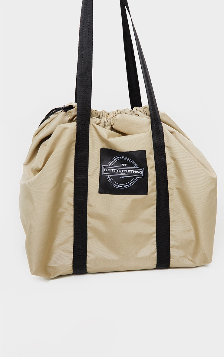 PRETTYLITTLETHING Sand Utility Tote Bag 3