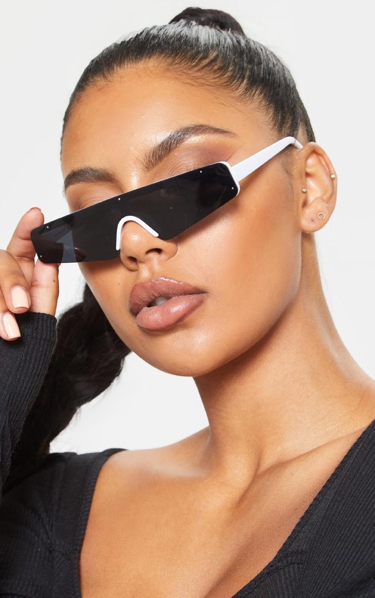 Black Retro Slim Sunglasses 1