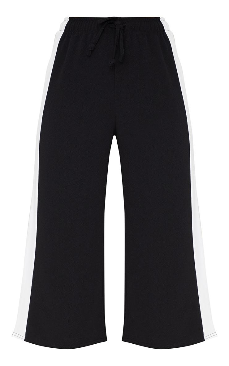 Jupe-culotte noire à cordon et rayure latérale 3