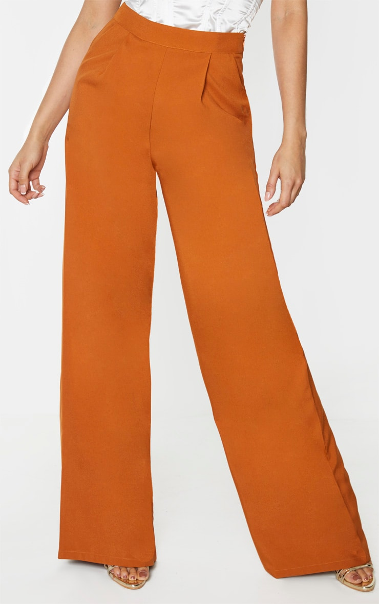 Tall Rust Extreme Wide Leg Trouser 2