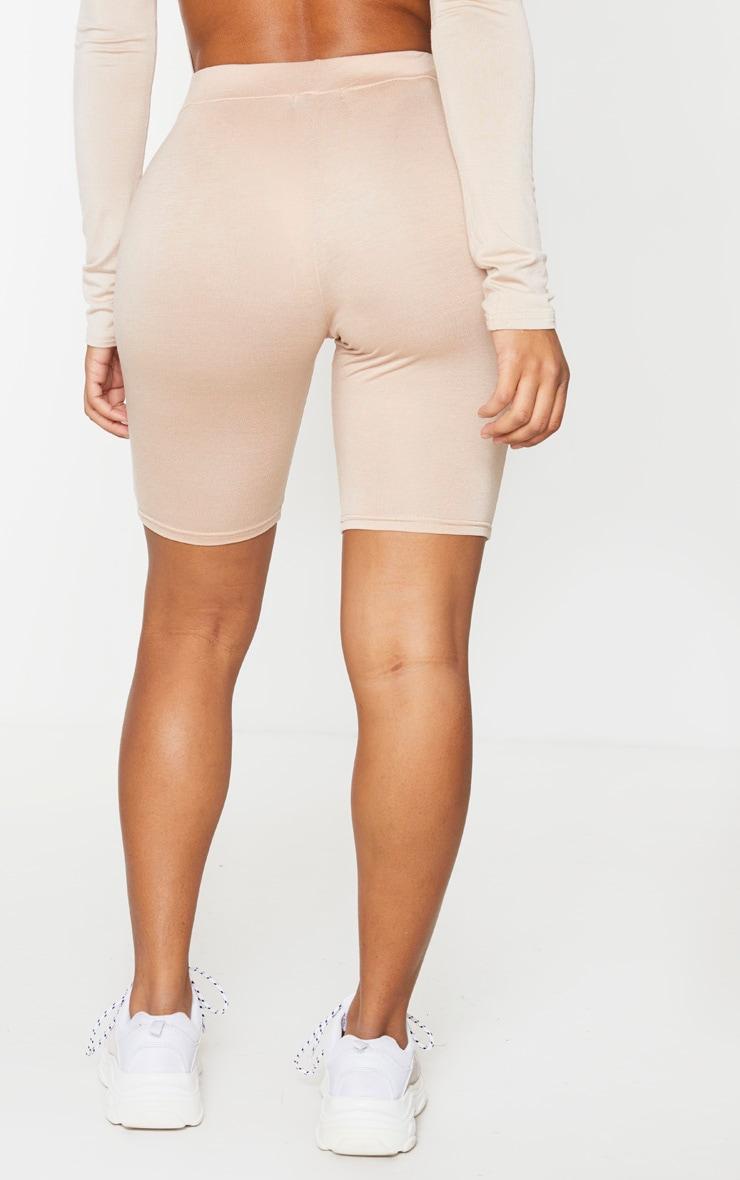 PRETTYLITTLETHING Shape - Short-legging gris pierre à logo  3