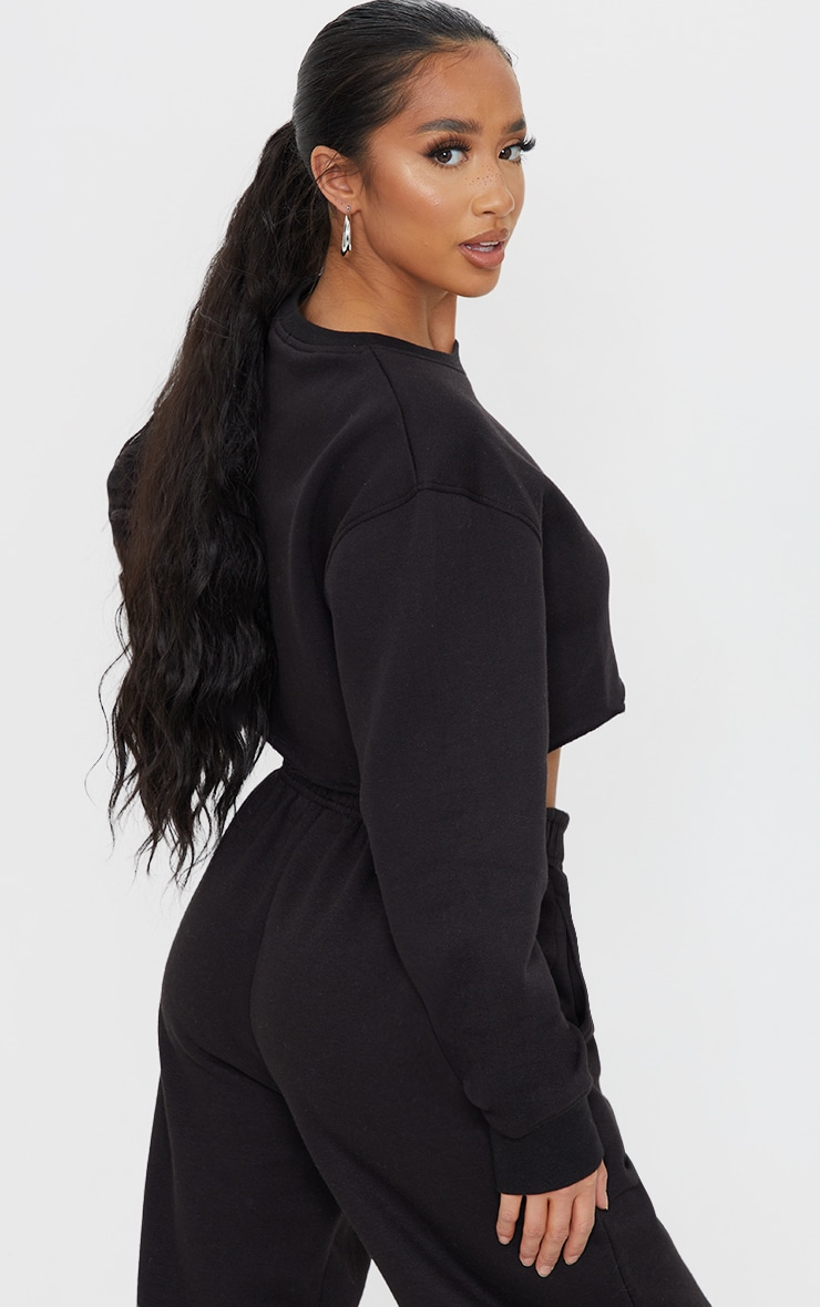 Petite Black Ultimate Cropped Sweater 2