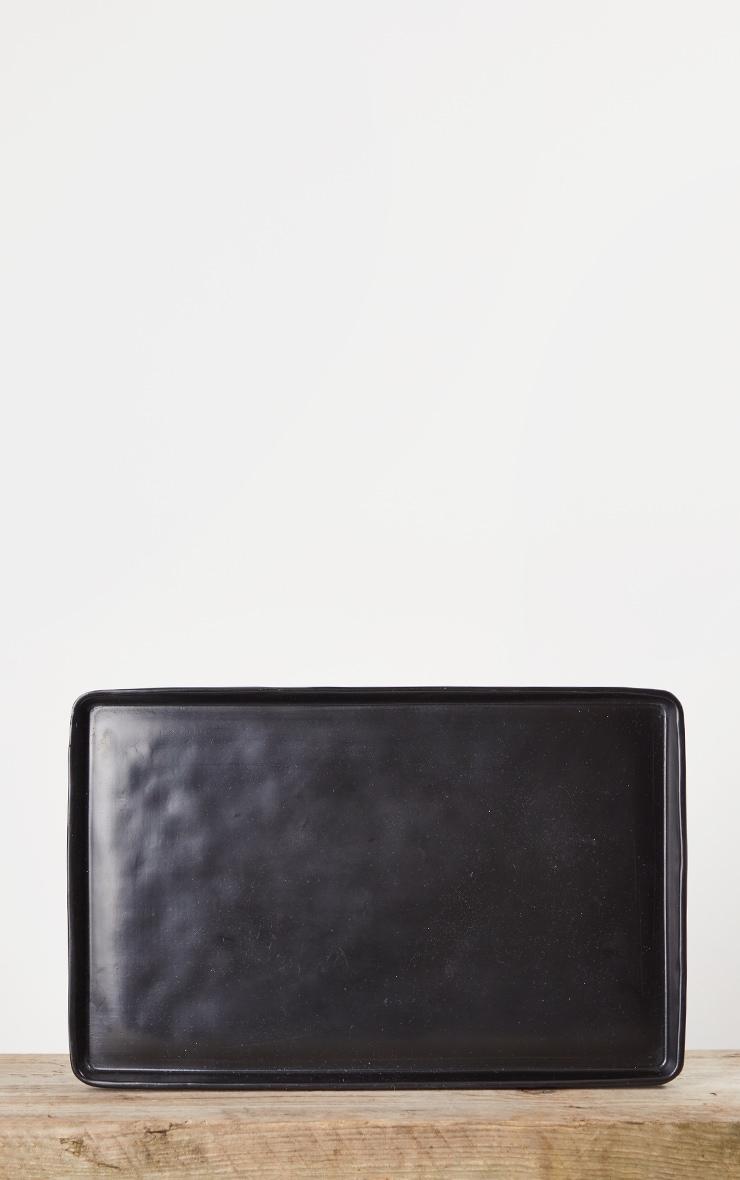 Matte Black Decorative Tray Large 4