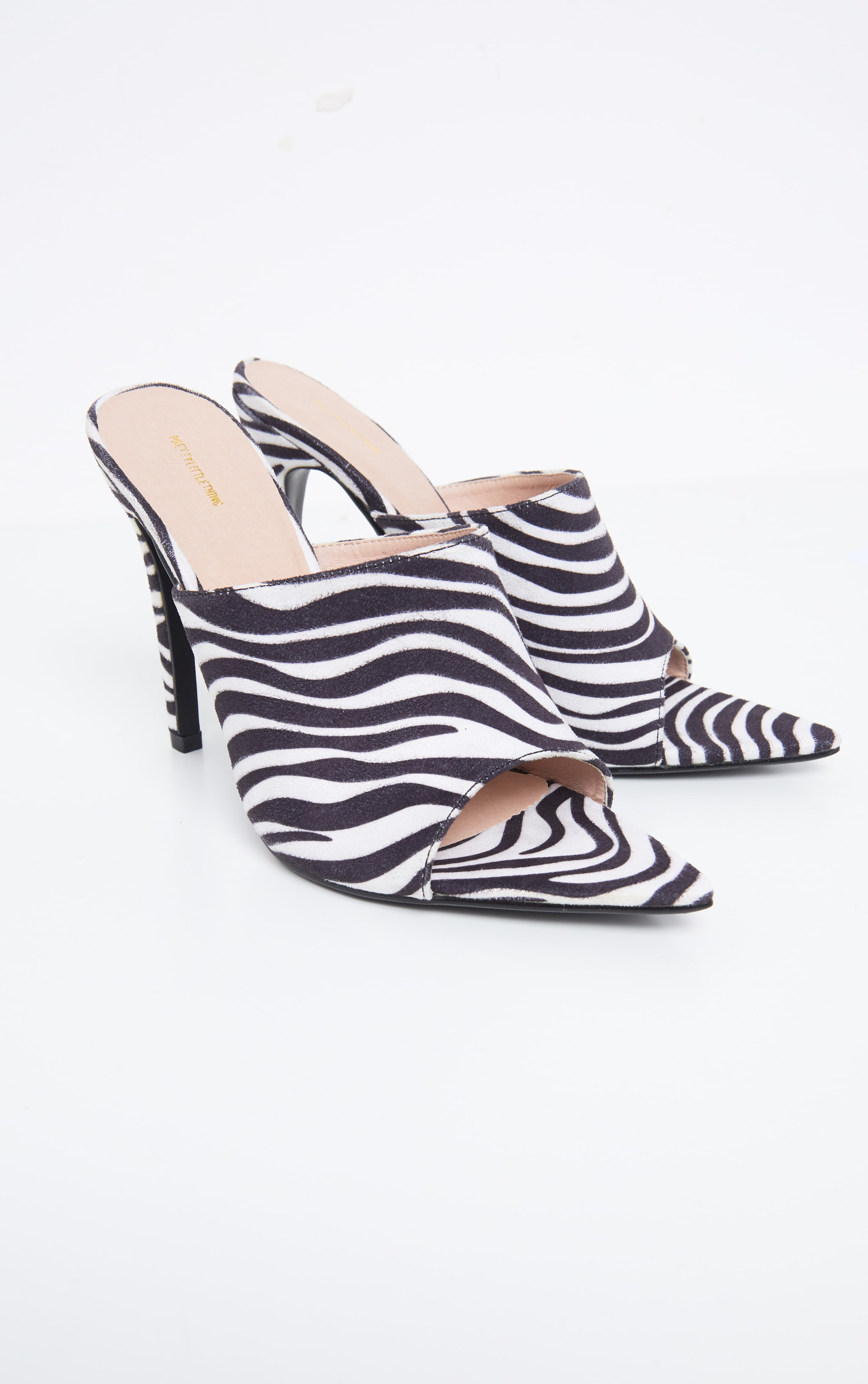 Zebra Extreme Point Toe Mule 3