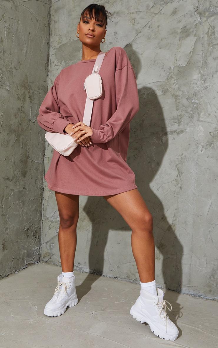 Dark Mauve Oversized Sweater Dress 4