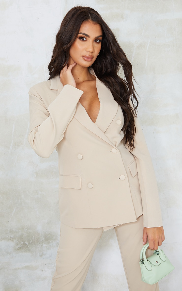 Tall  Stone Cut Out Back Lace Up  Blazer 2