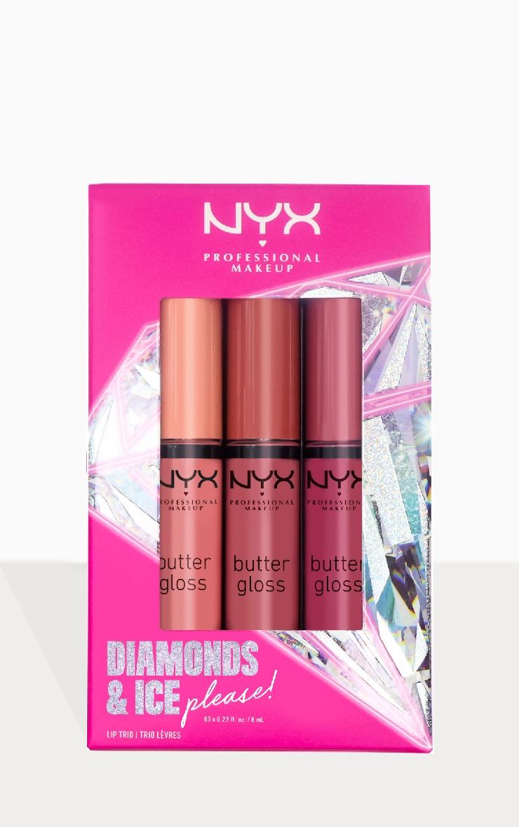 NYX PMU Diamonds & Ice Please Butter Gloss Nude Lip Trio 02 2
