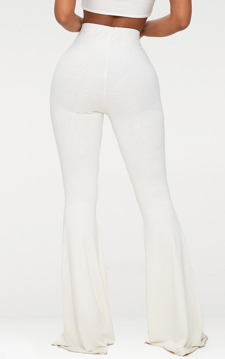 Shape White Slinky Flared Trousers 4