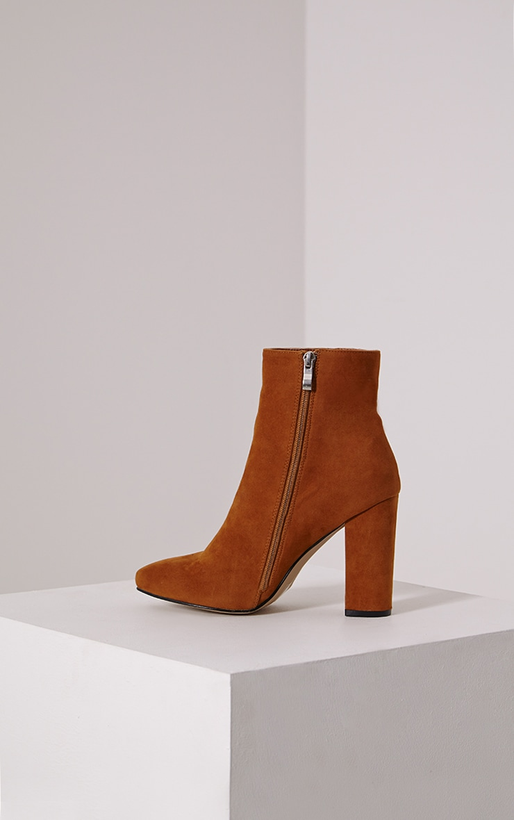 Behati Tan Faux Suede Ankle Boots 5