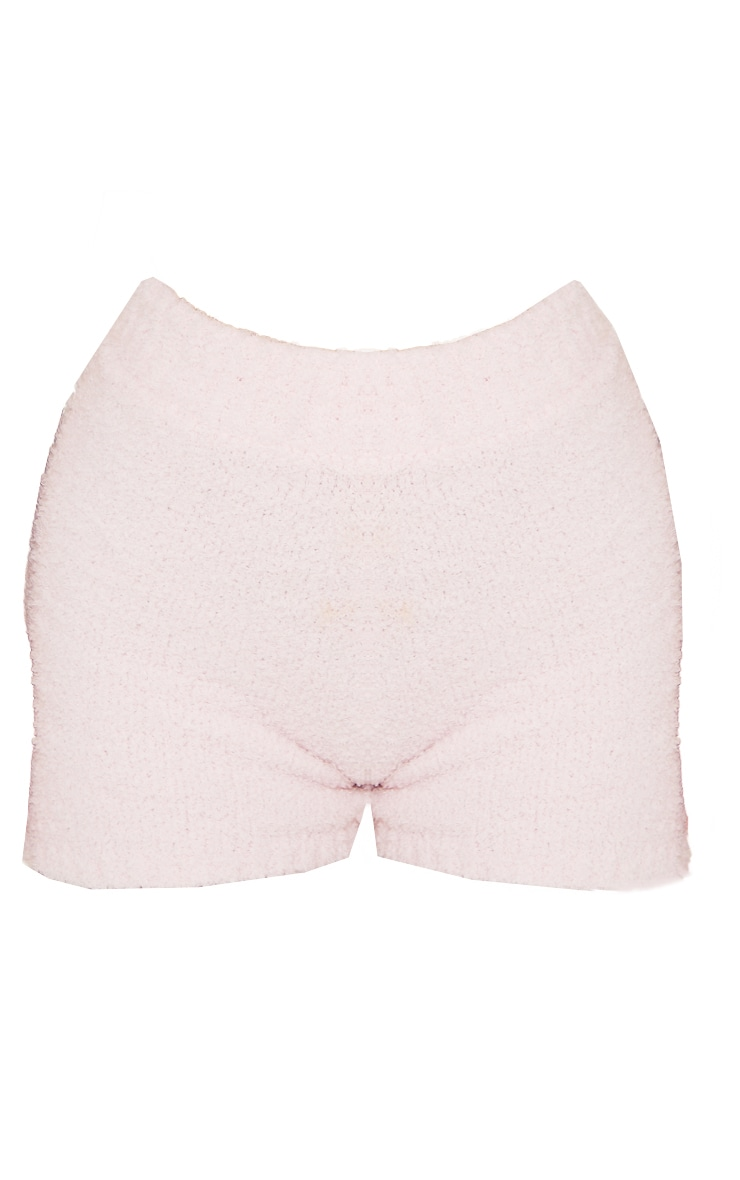 Baby Pink Premium Fluffy Knitted Shorts 6