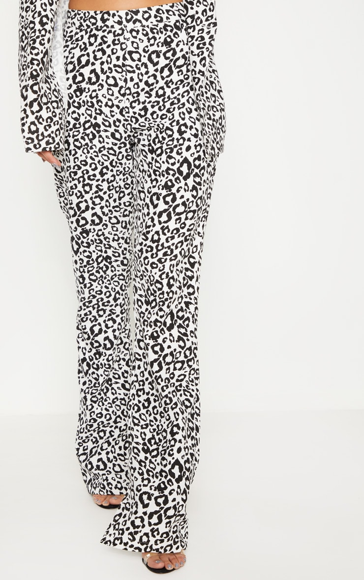 Dalmatian Print High Waisted Wide Leg Pants 2
