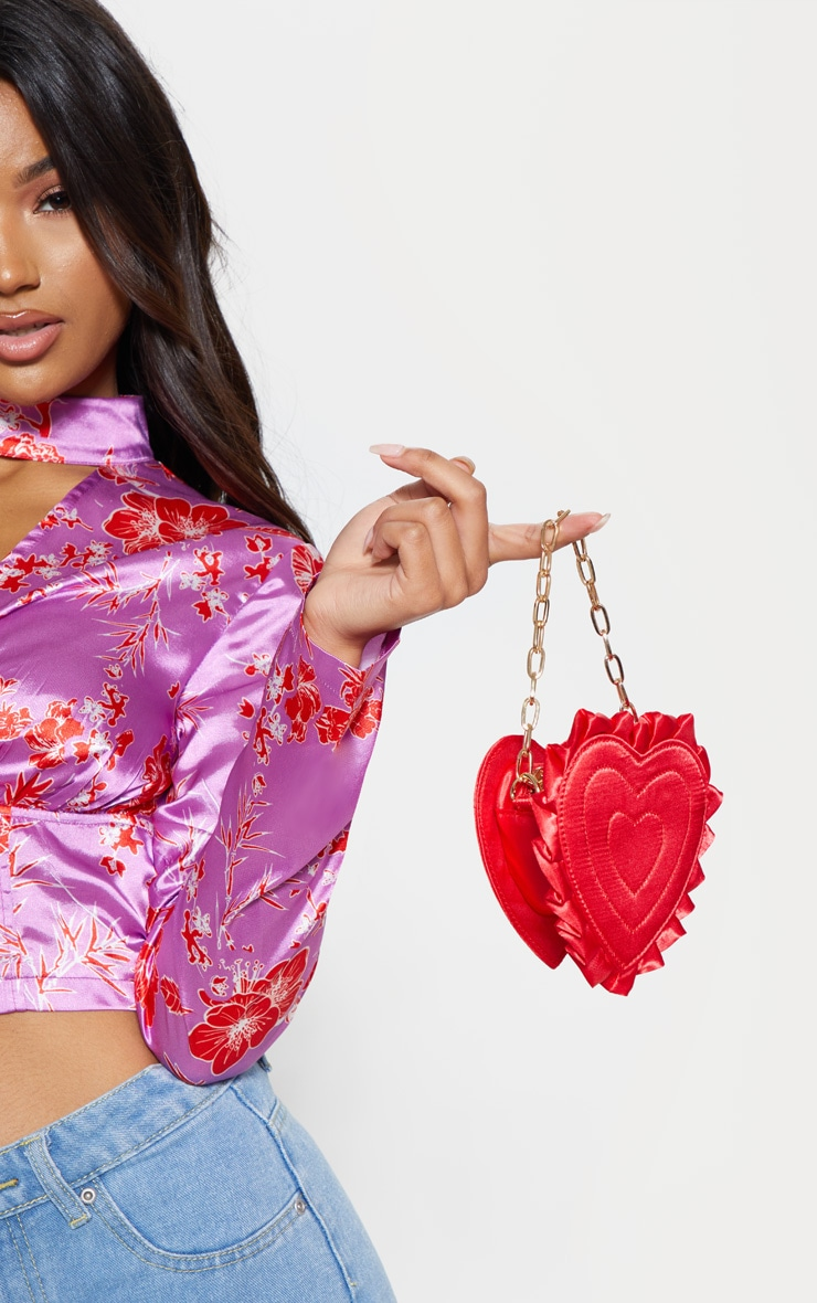 Red Satin Heart Mini Bag 1