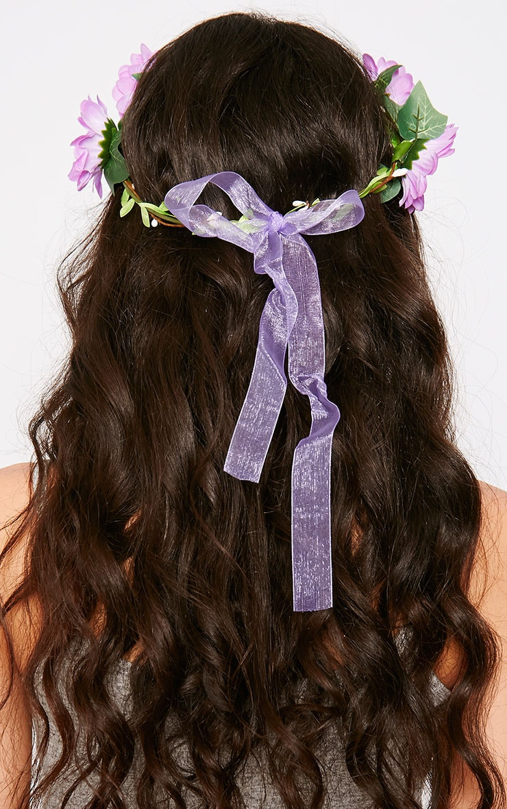 Jody Purple Daisy Hair Garland 3