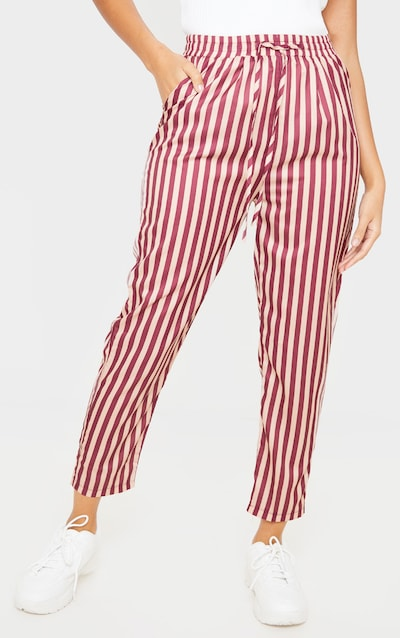Rust Stripe Casual Trousers