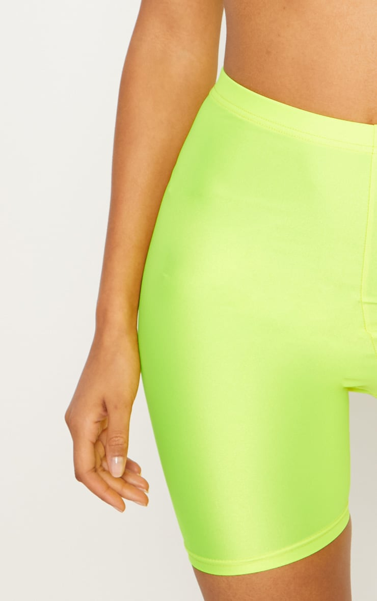 Yellow Neon Bike Shorts 6