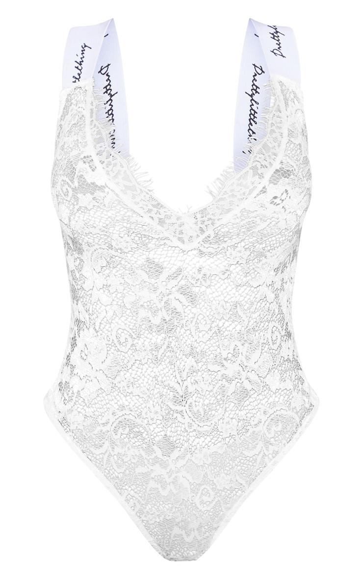 PRETTYLITTLETHING White Shape Lace Bodysuit 3