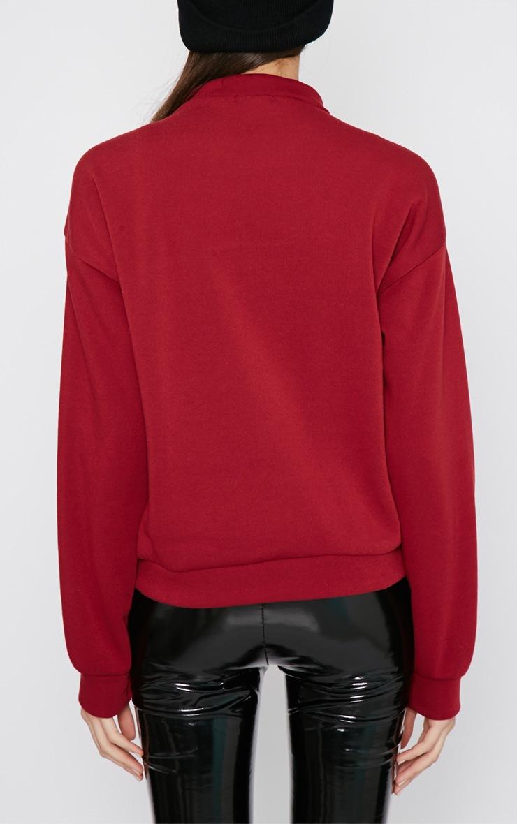 Madison Burgundy Fashion Over Functionality Sweater 2