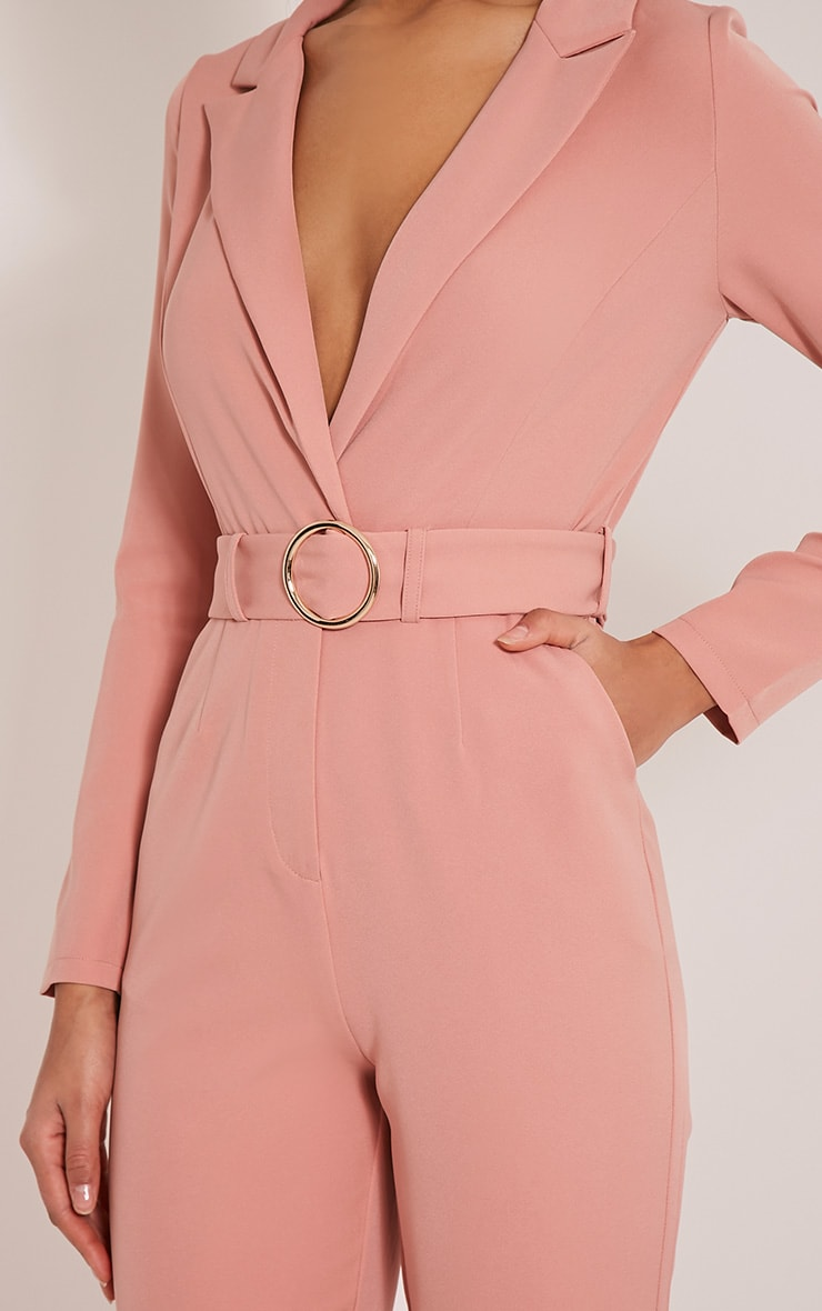 Mell Rose Wrap Buckle Crop Jumpsuit 6