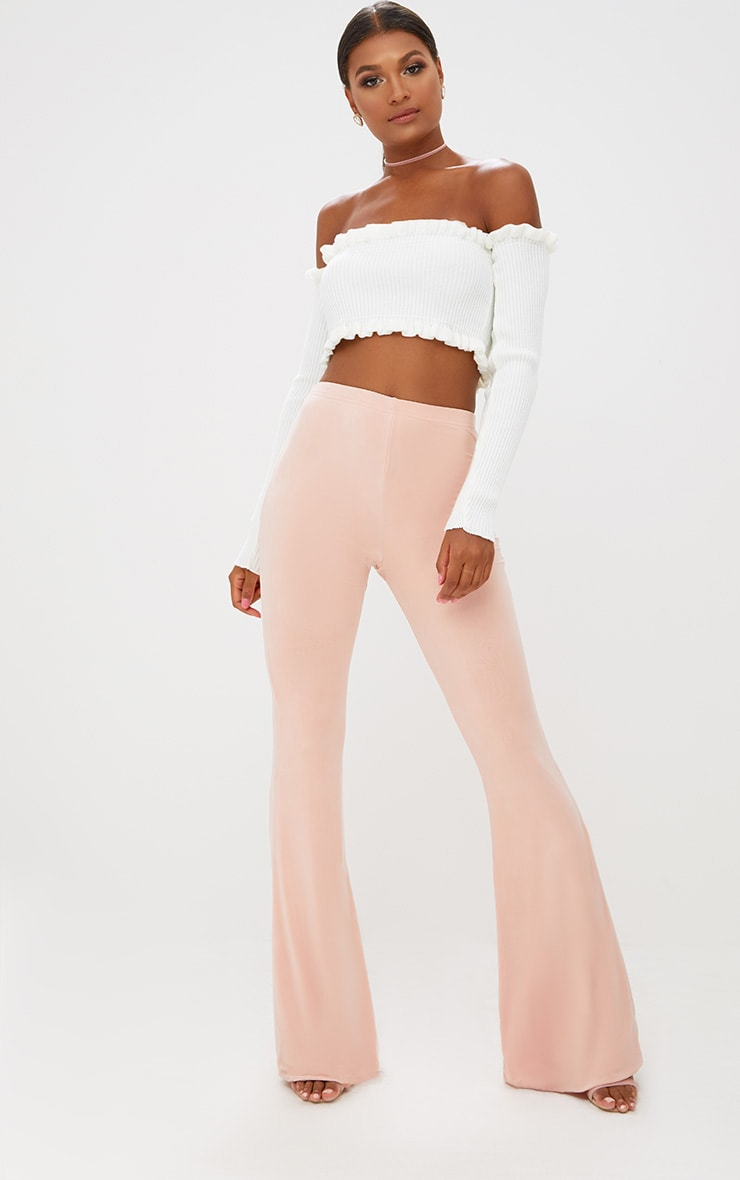 Nude Slinky Flared Pants 1
