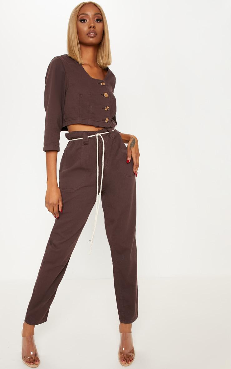 Chocolate Tie Waist Jeans