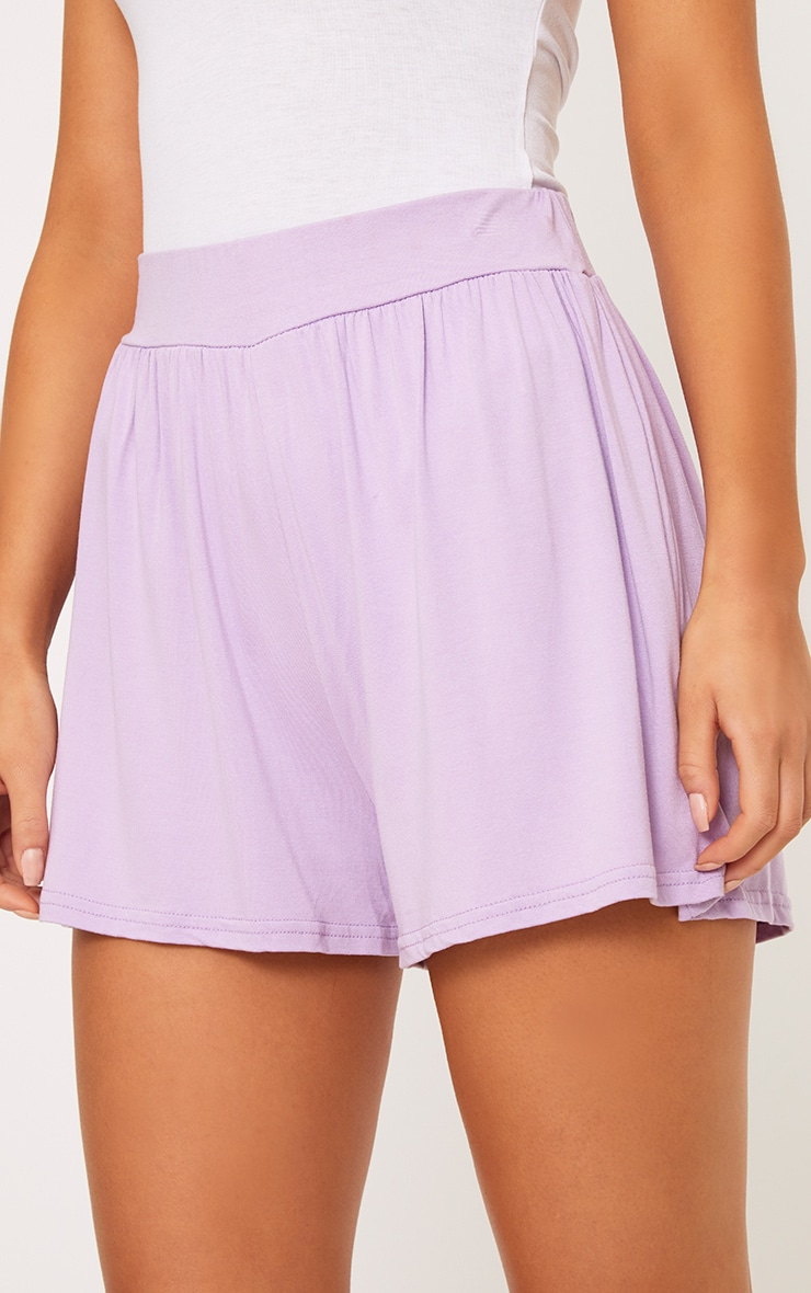 Lilac Jersey Floaty Shorts 4