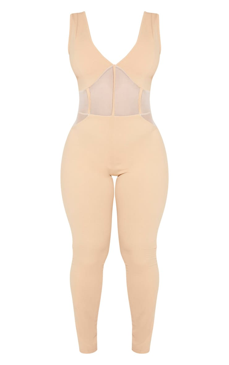 Shape Fawn Mesh Panel Jumpsuit 3