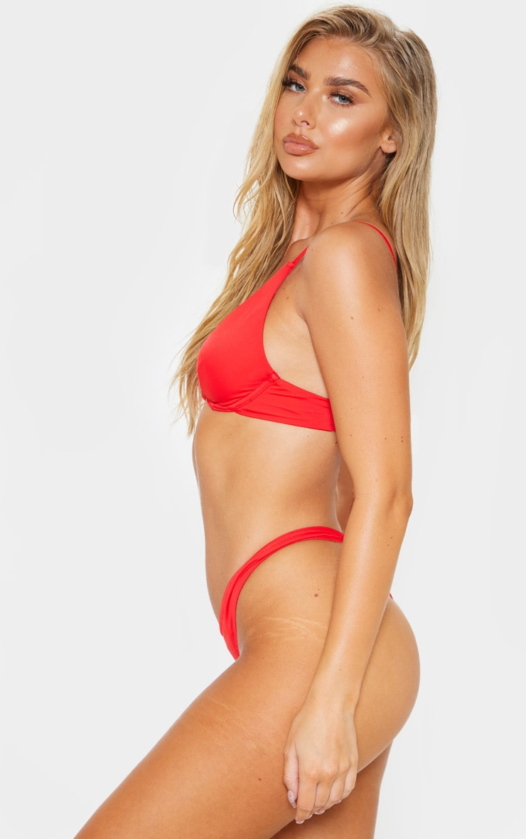 Red Mix & Match Underwired Bikini Top 2