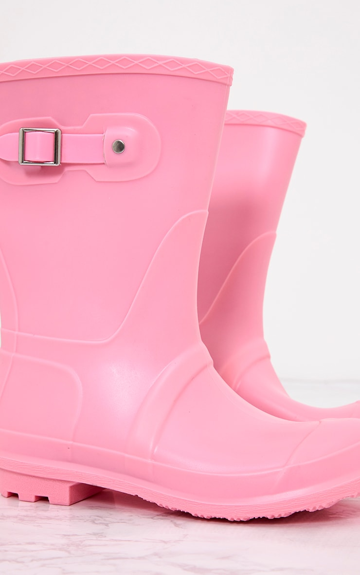 Baby Pink Short Wellies 6