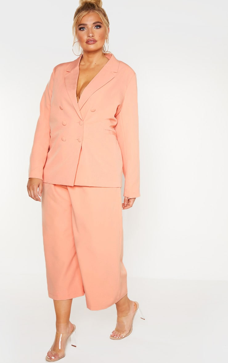 Plus Peach Oversized Blazer 4